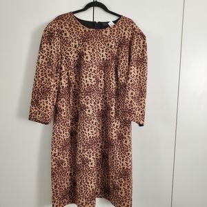 Eloquii Leopard Dress with puff shoulder size 20W